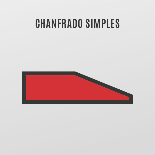 chanfrado simples